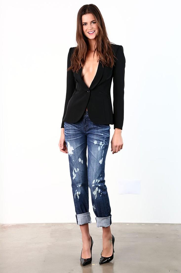 Women Medium Washed Destroyed Skinny Jeans