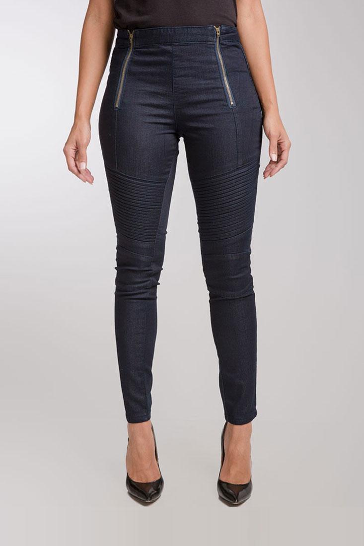 Women Moto Cropped Skinny Jeans