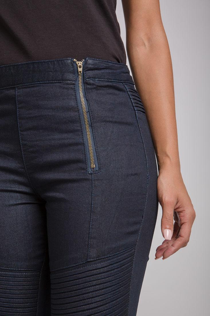 Women Double Zip Front Jeans