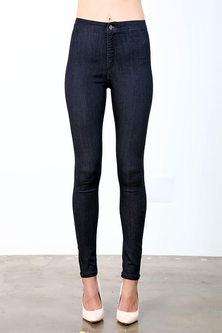 Women Black Rinsed Skinny Jeans