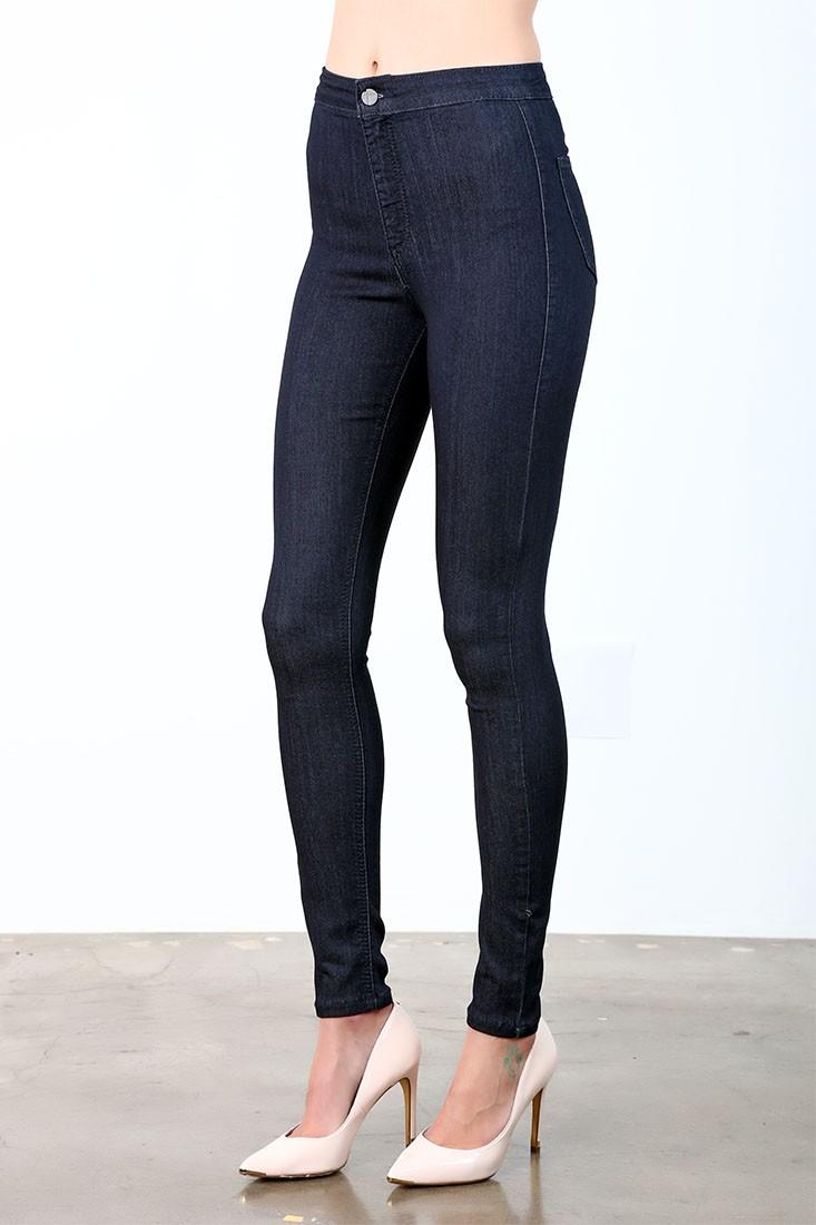 Women Black Ankle Skinny Jeans