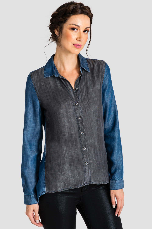 Standards & Practices Contemporary Women Tencel Denim Shirt