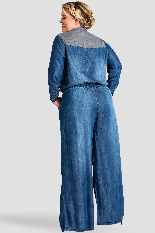 f5464e46c79 Standards   Practices - Plus Size Women s Indigo Contrast Tencel ...
