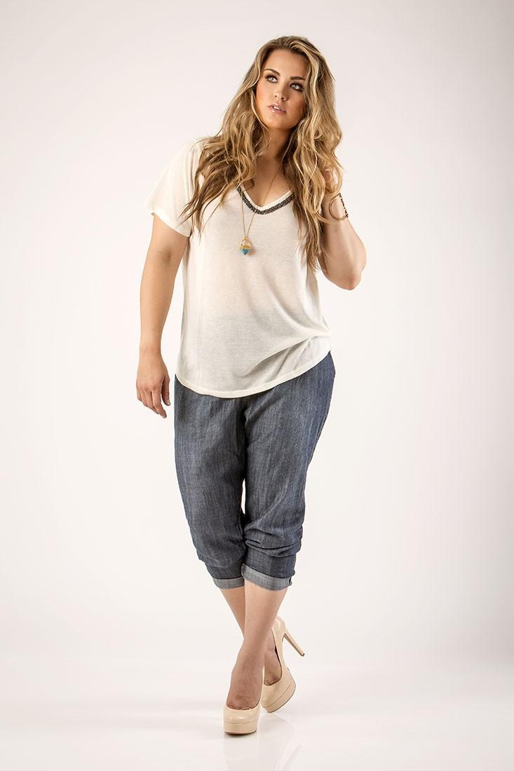 Women Plus Tencel Jeans