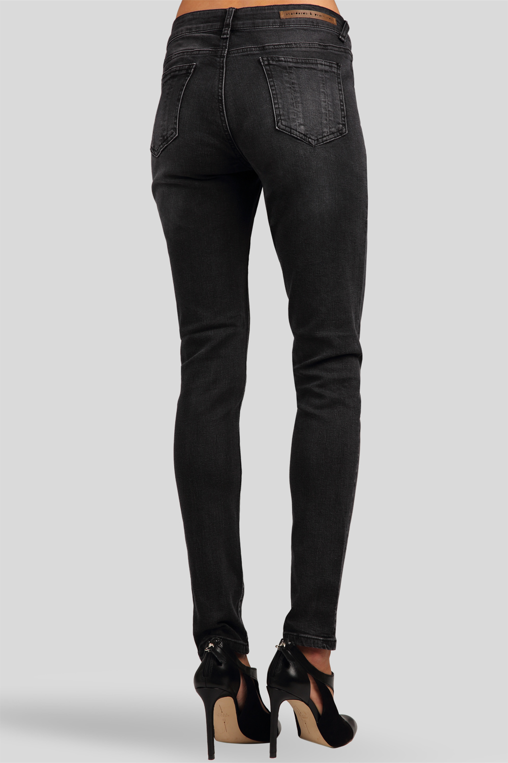 Skinny Jeans Midrise Antique Wash