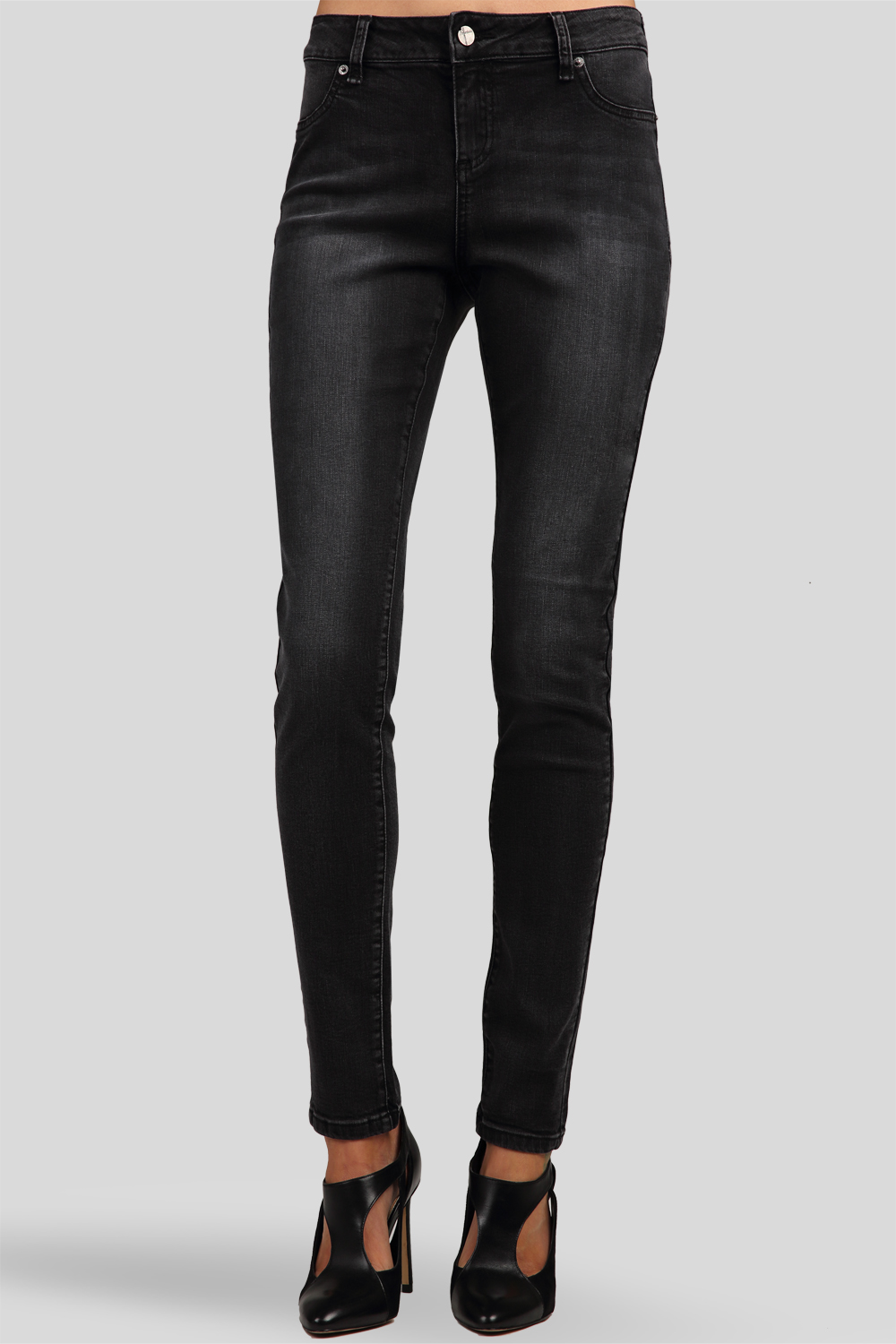Midrise Skinny Jeans Antique Wash