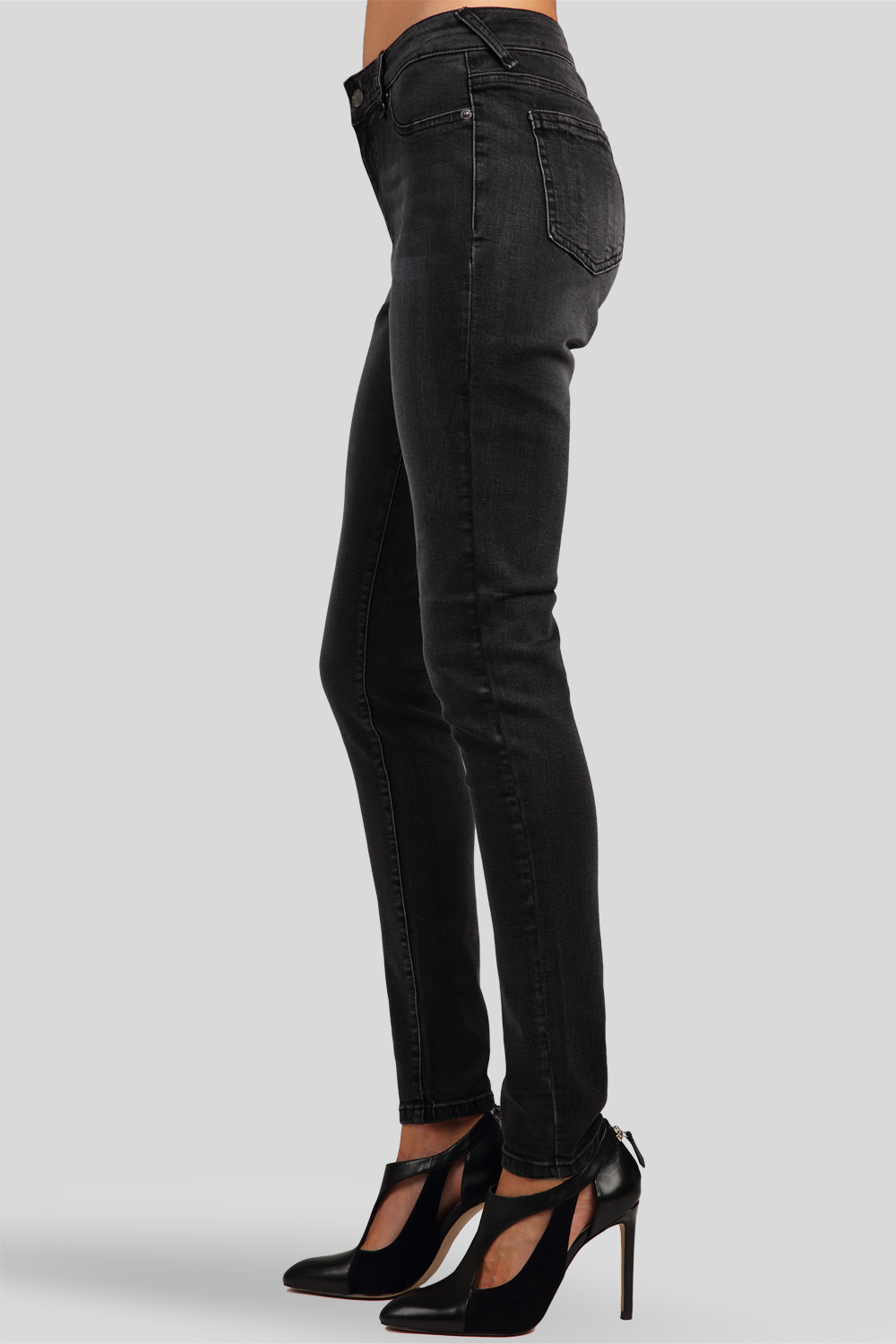Stretch Woven Gray Good Midrise Skinny Jeans