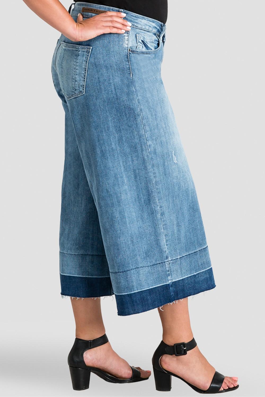 Plus Size Bobbie Women's Frayed Cropped Jeans - Undone Raw Hem