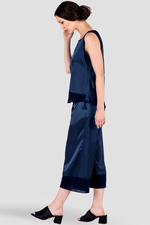 Women's Dark Blue Sleeveless Blouse