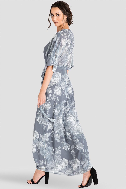 Standards Amp Practices Women S Gray Floral Print Kimono