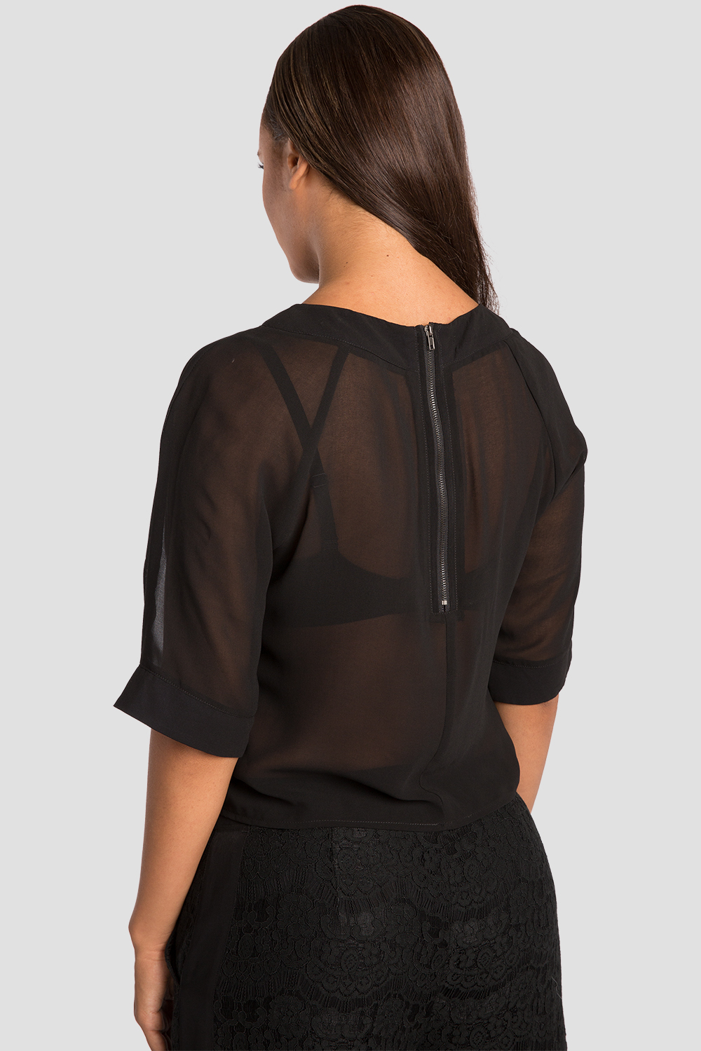 Sheer Layered Milla Chiffon Skimmer Top