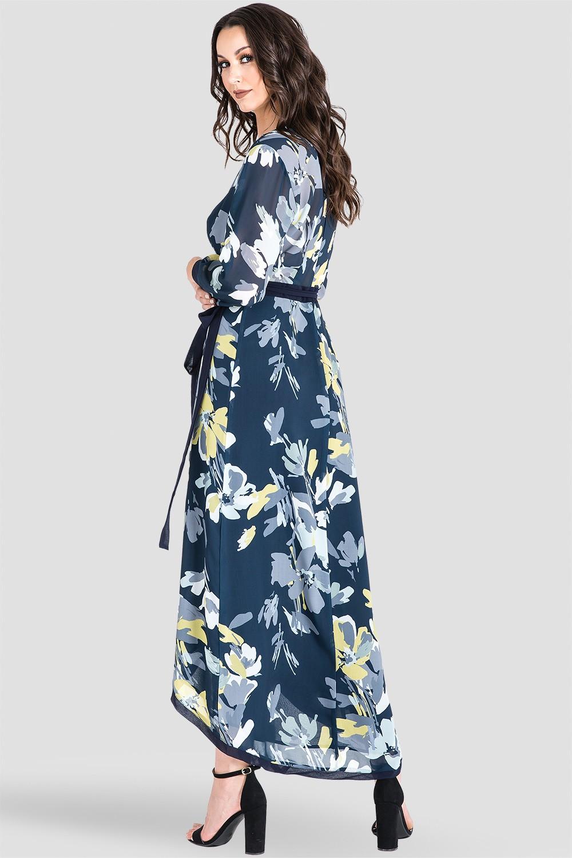 df5fda2ea31 Standards   Practices Women s Navy Floral Print Wrap High-Low Tulip Dress.  Sale. now. 1 7