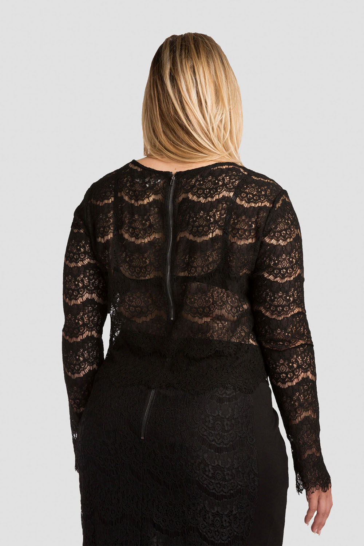 Plus Size Women Lace Skimmer Shirt