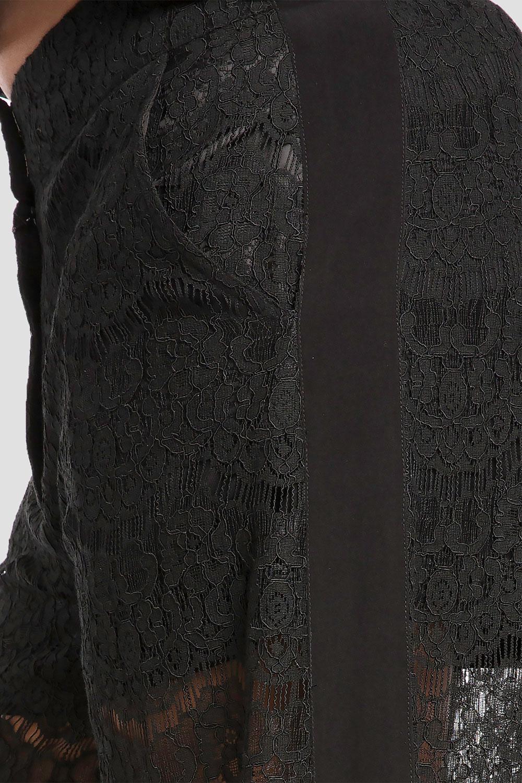 e8d6d8cb8b9f1 Plus Size April Black Spring Peek-A-Boo Lace Palazzo Pants