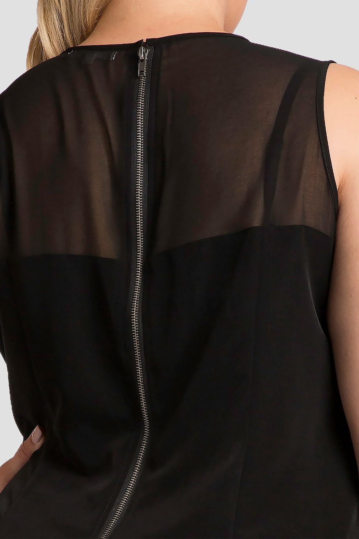 artimis plus size aymmetrical hem maxi dress in black