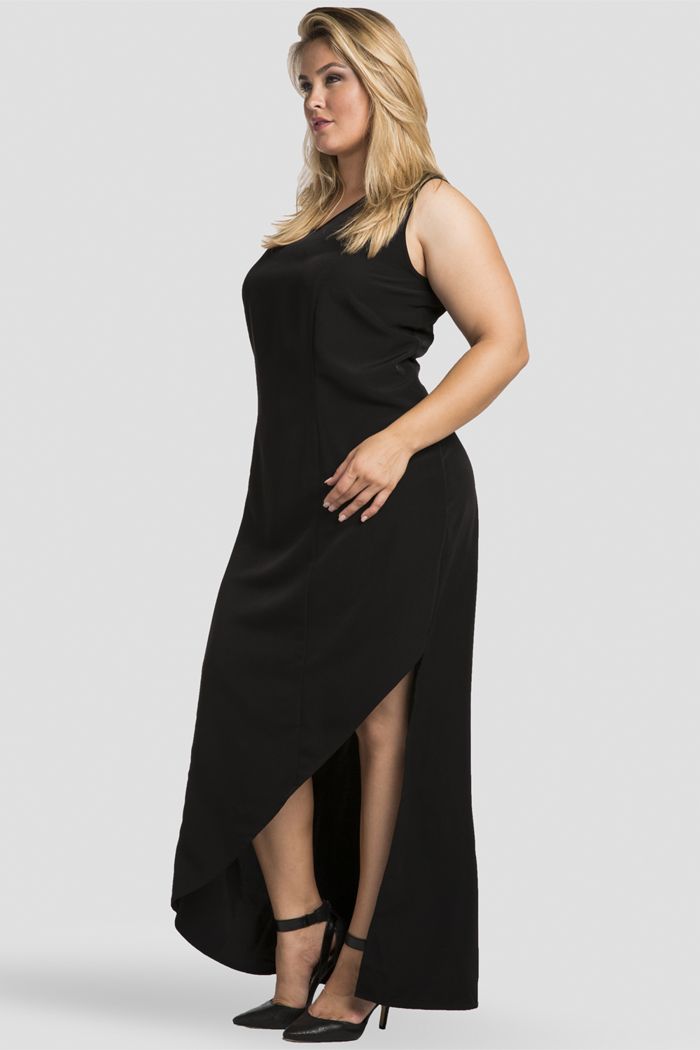 Black and white asymmetrical dress up women are they