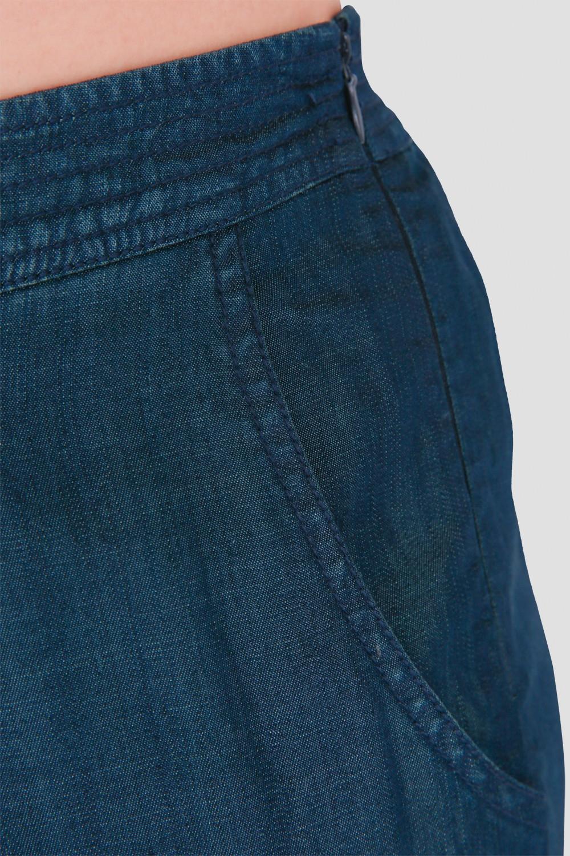 Standards & Practices Plus Size Women's Wide-Leg Indigo Gaucho Pants