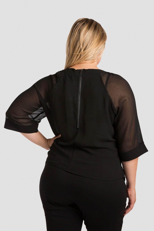 Plus Size Black Milla Crop Top