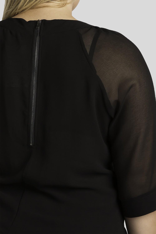 Sheer layered skimmer swing top detail