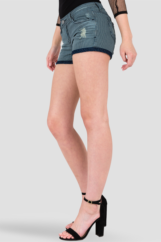 Chatanooga Dirt Road Stripe Denim Shorts