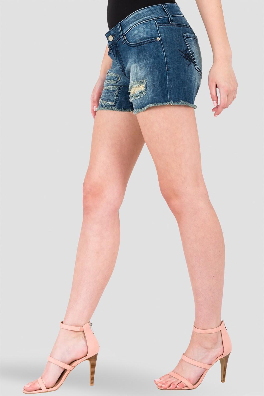 Hobo Tommy Repair Extra Fray Denim Shorts