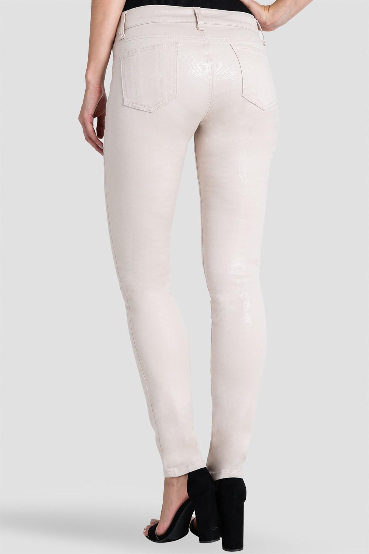 Women Beige Snake Skin Print Skinny Jeans