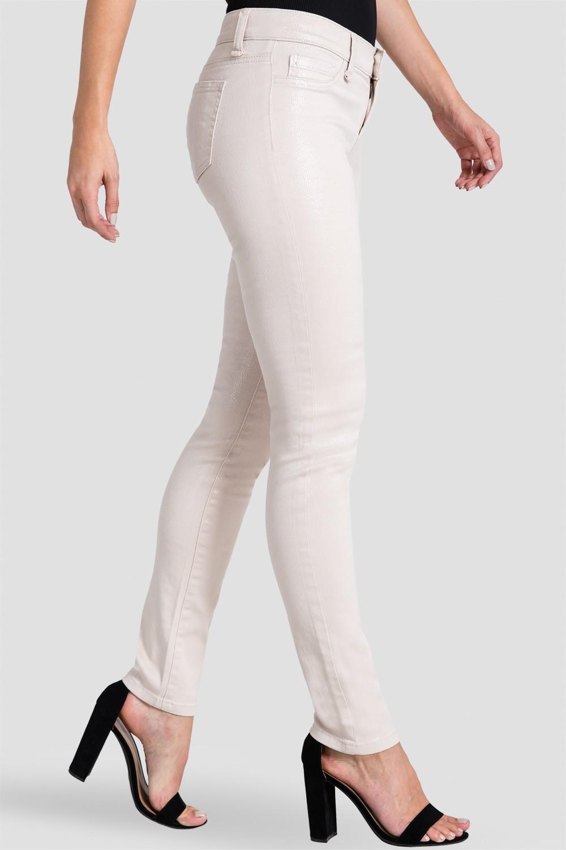 Women Beige Snake Print Skinny Jeans