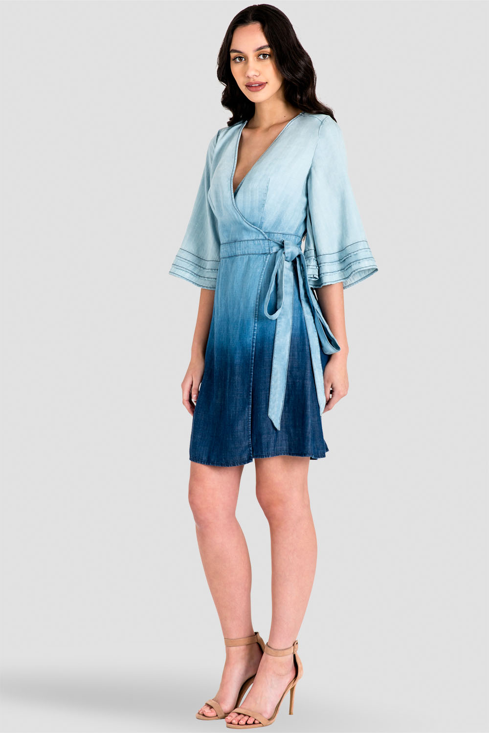 Standards Amp Practices Women S Ruffle Bell Sleeve Ombre