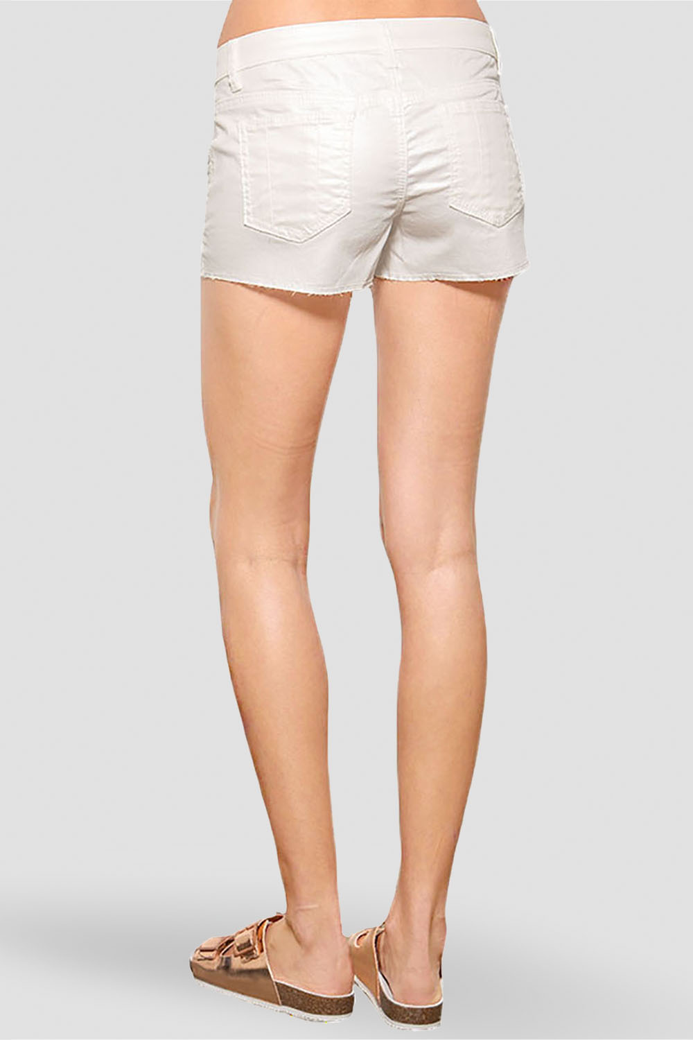 Women White Denim Shorts