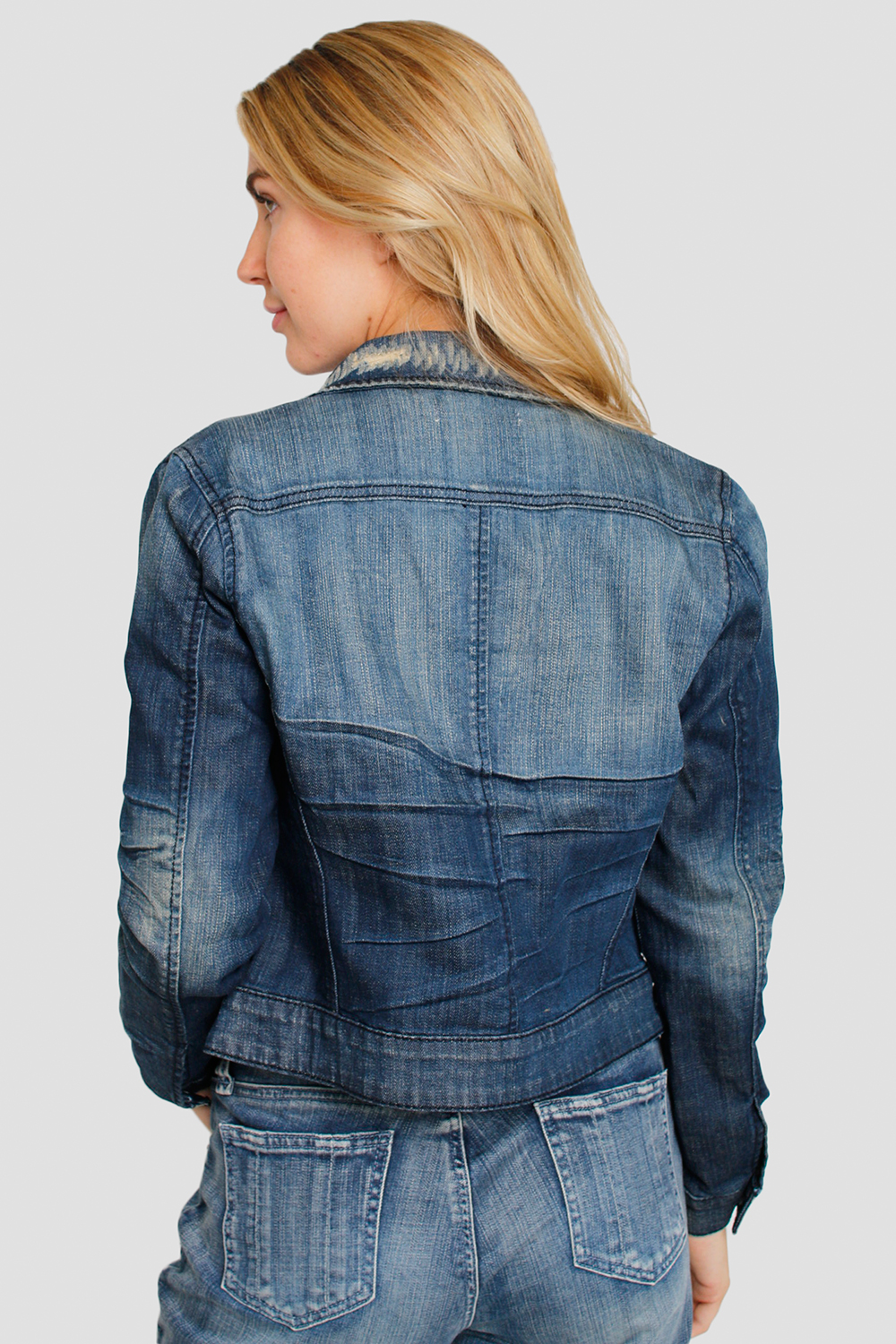 Women Dark Denim Jacket