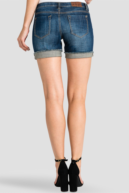 Women Denim Rolled Shorts