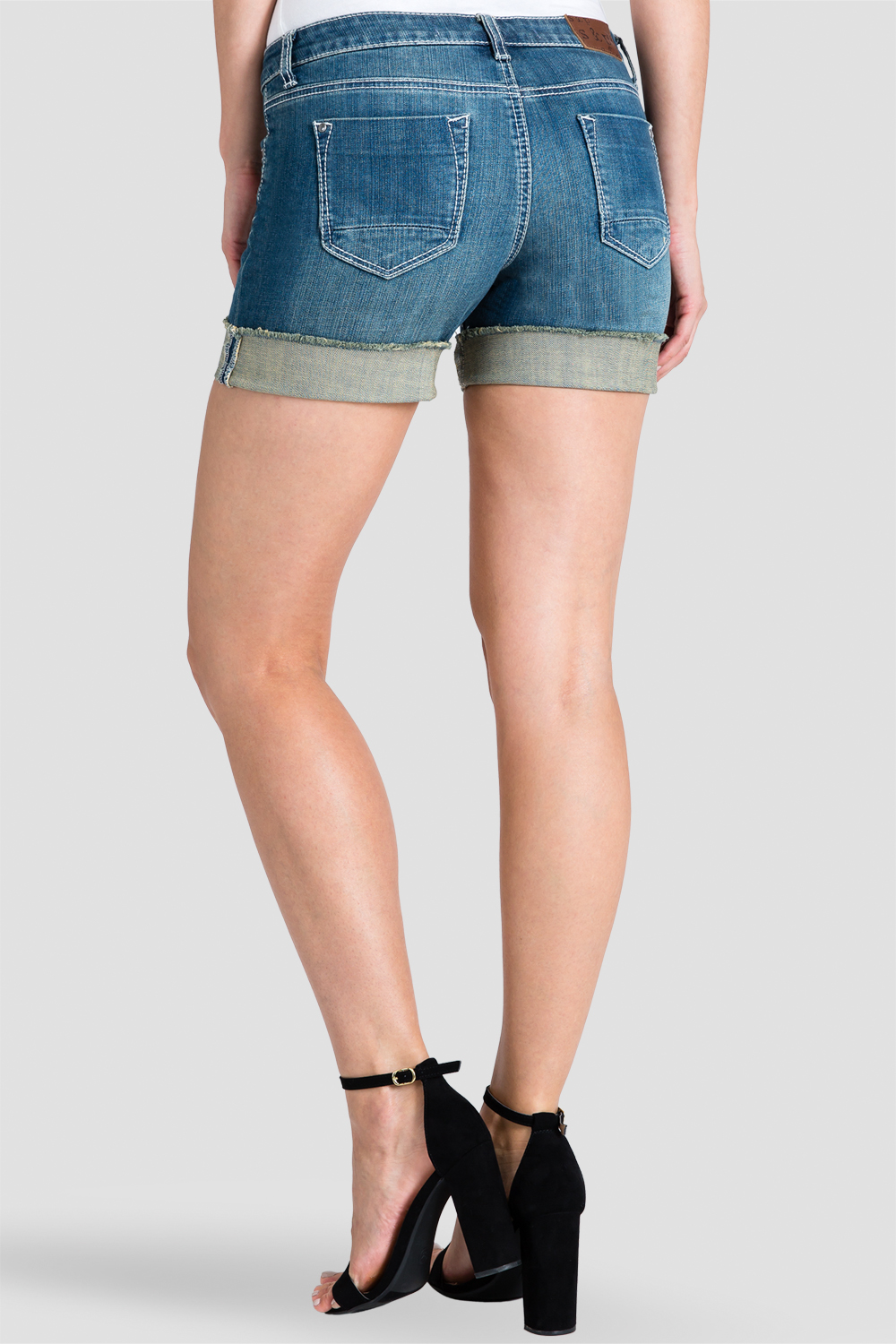 Women Denim Rolled Shorts