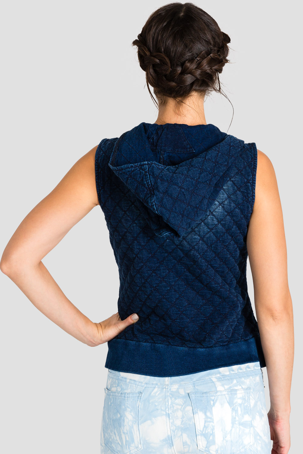Standards & Practices Contemporary Fashion Women Indigo Quilted Vest
