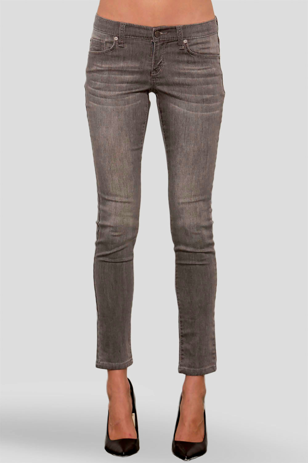 Women Charcoal Denim Skinny Jeans