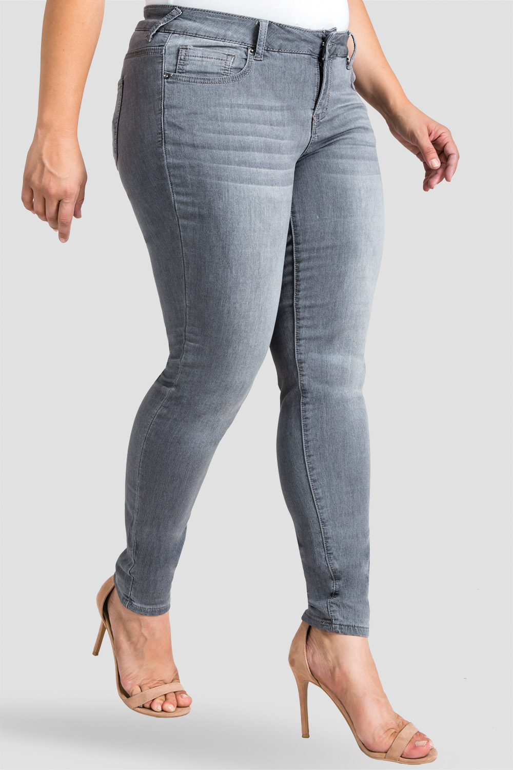 Standards & Practices Plus Size Grey Skinny Jeans