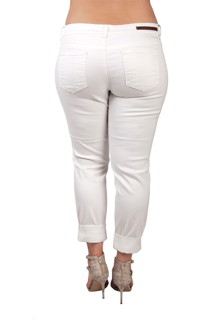 Plus Size Women White Skinny Jeans
