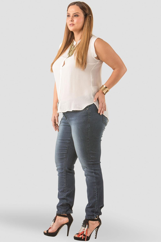 Plus Size Women Indigo Skinny Jeans