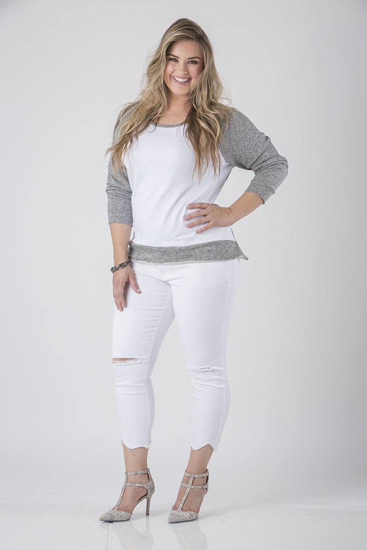 Standards & Practices Contemporary Fashion Women Plus Elbow Patch Sweater