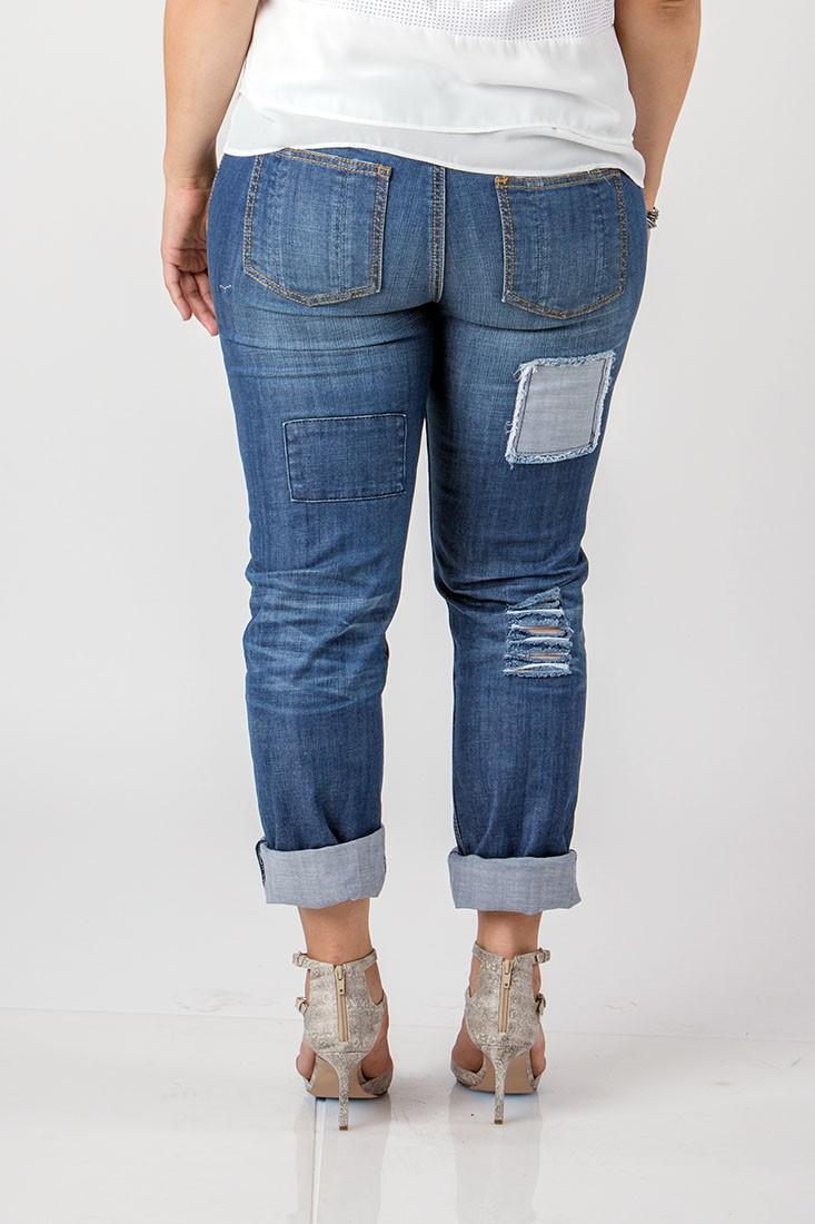 Women Plus Destroyed Boyfriend Jeans