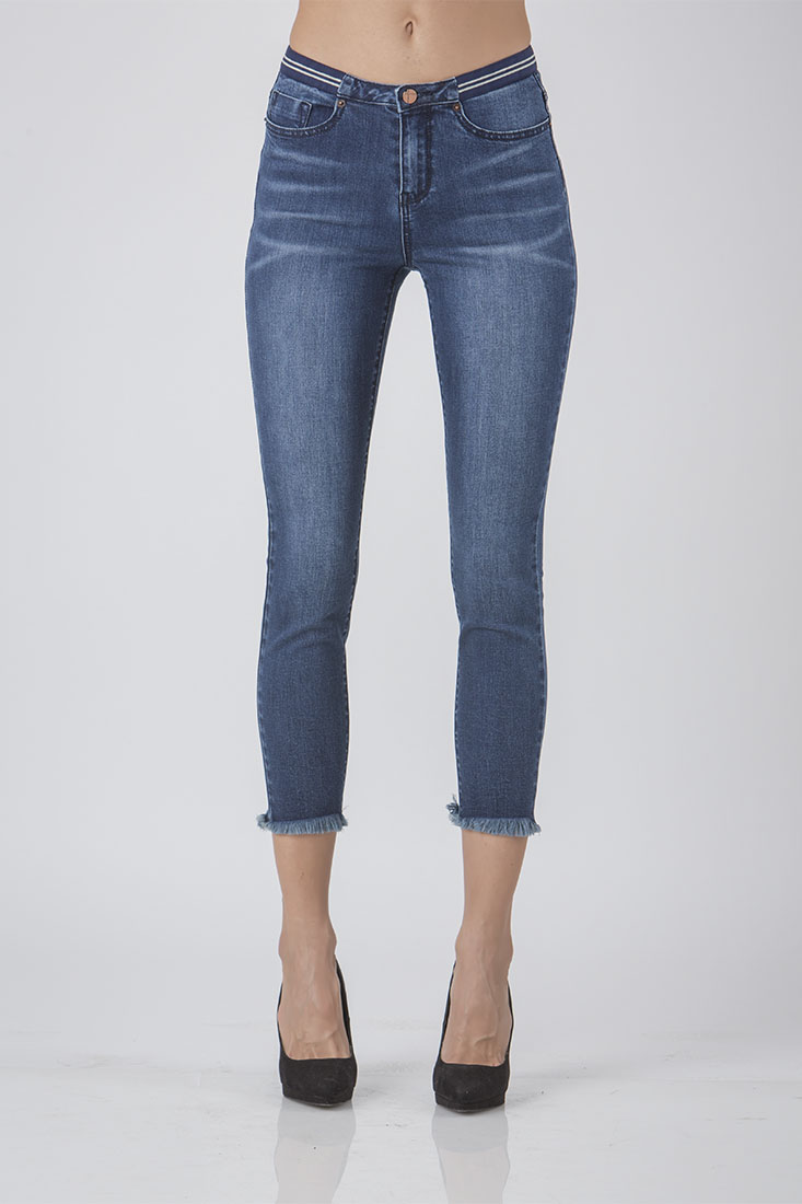 Women High Rise Cropped Jeans