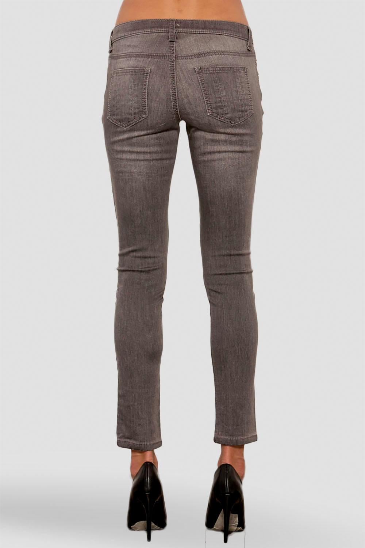 Women Grey Mid-Rise Skinny Jeans