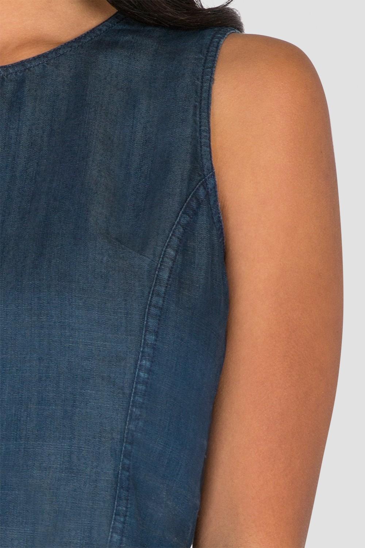 Standards & Practices Women's Sleeveless Tencel Denim Skimmer Shirt