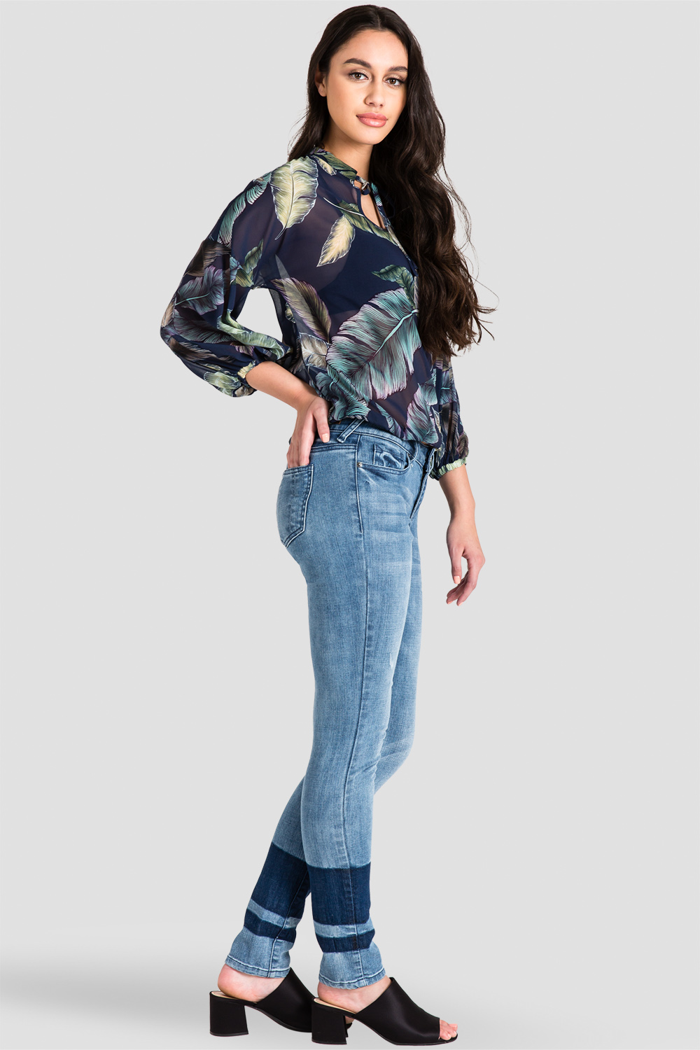 Women's Trendy Tropical Leaf Print Blouse