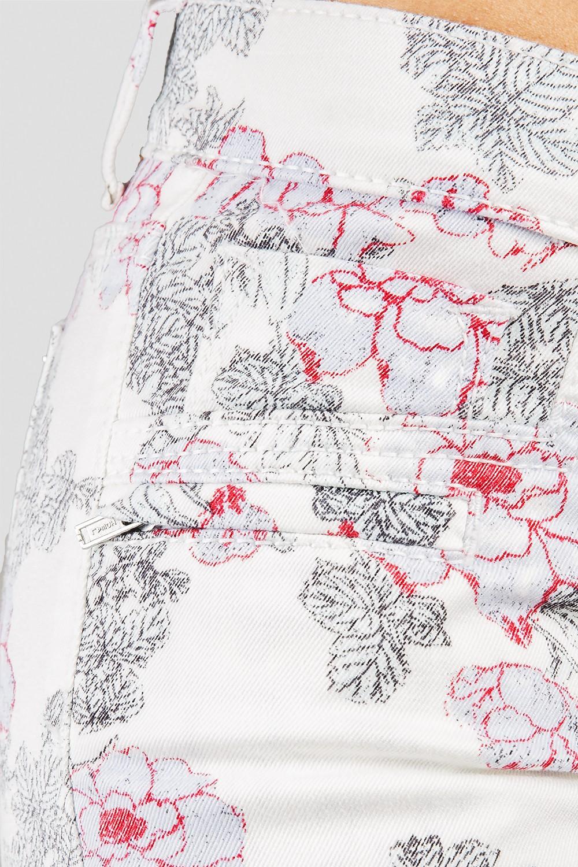 Women White Floral Print Skinny Jeans