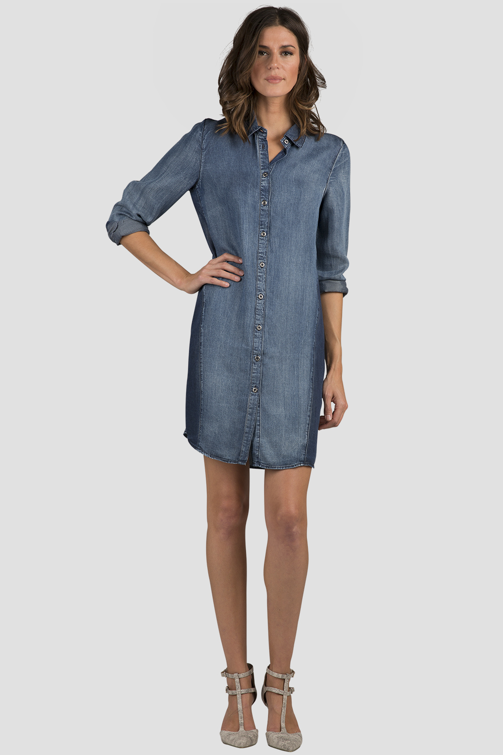 Standards & Practices Women's Chambray Denim Shirt Dress