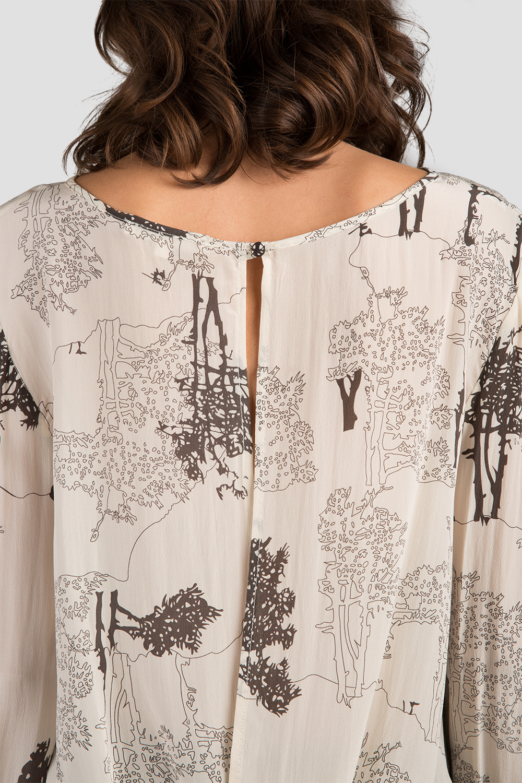 Women Printed Drape Blouse