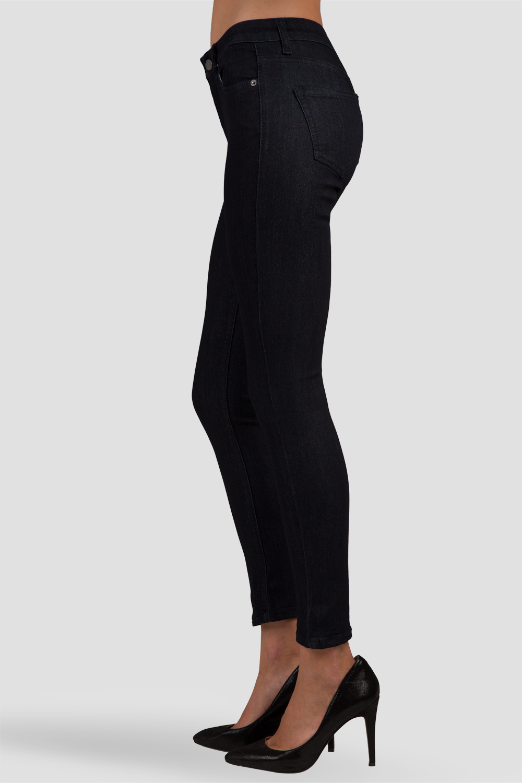 Women Dark Rinse Ankle Skinny Jeans