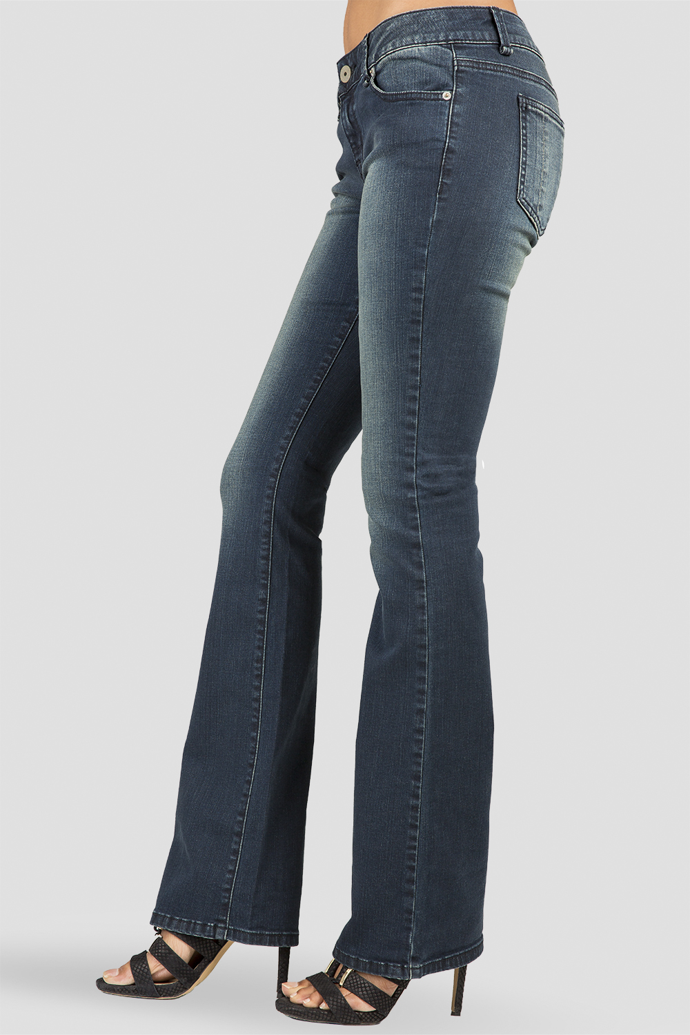 Women Dark Wash Denim Bootcut Jeans