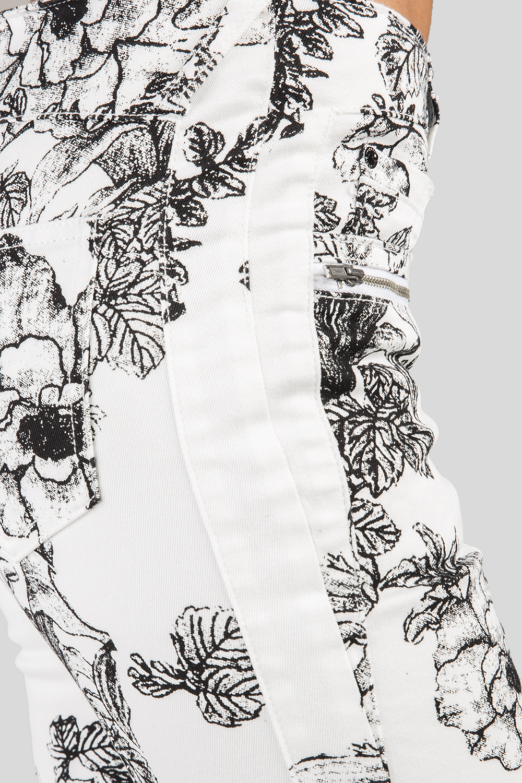Women Denim Floral Print Skinny Jeans