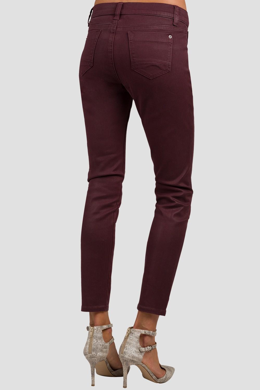 Cabernet Burgundy Coated Cigarette Skinny Jeans